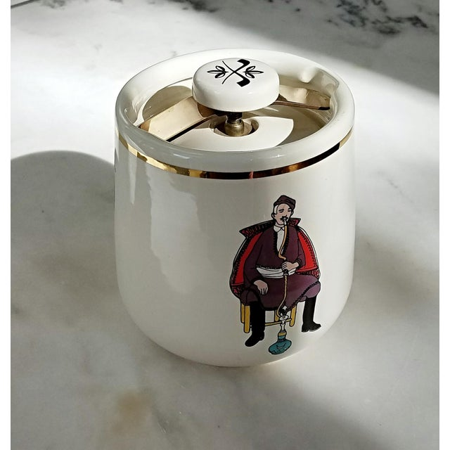Mid-Century Italian Ceramic Covered Jar For Sale - Image 4 of 11
