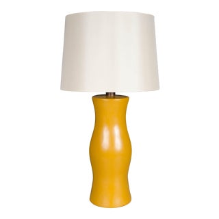 Du Table Lamp - Ochre Lacquer For Sale