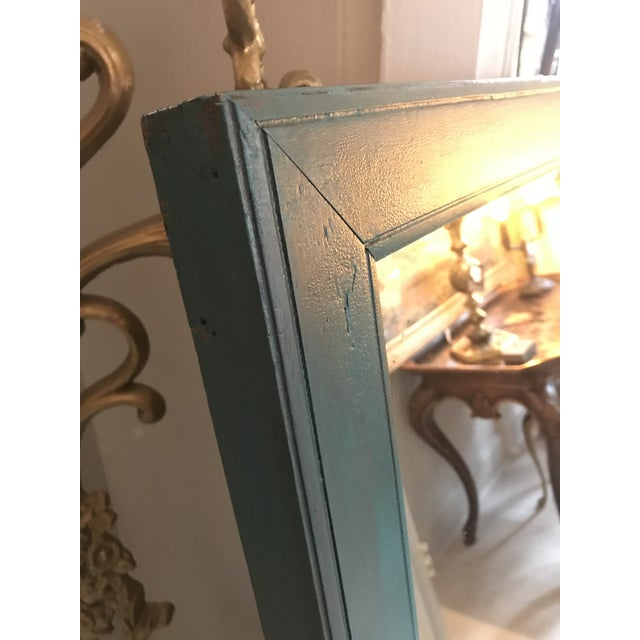 Cottage Chic Distressed Mirror For Sale - Image 4 of 5