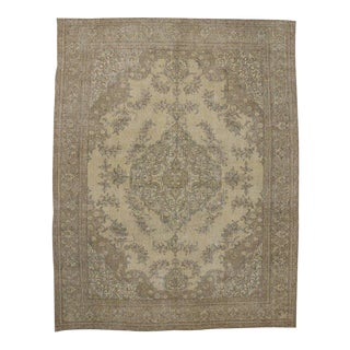 Distressed Vintage Persian Tabriz Rug with Modern Industrial Style