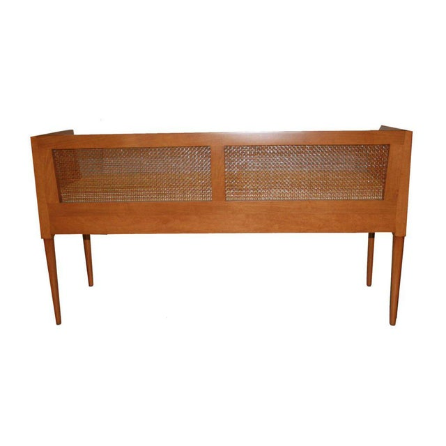 Customizable Viktor Caned Maple Bench For Sale - Image 9 of 9
