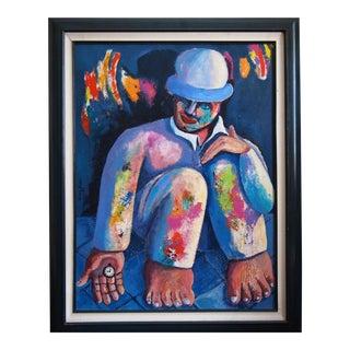 Original Jaime Jose 1992 Surrealist Portrait Painting For Sale
