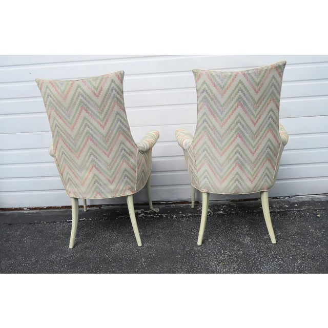 These wonderful Side by Side Chairs are made out of wood, fabric, and they are in good condition. The vintage chairs have...