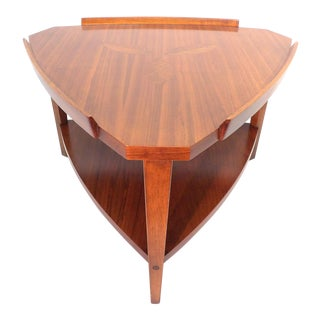 1960's Danish Modern Lane Rosewood Inlaid End Table For Sale