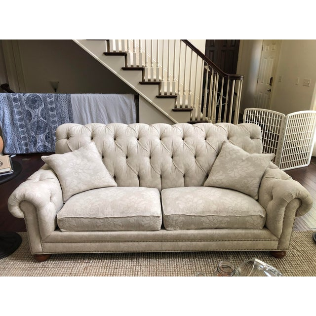 Ethan Allen Hand-Tailored Ethan Allen Custom Made Chadwick Sofa For Sale - Image 4 of 4