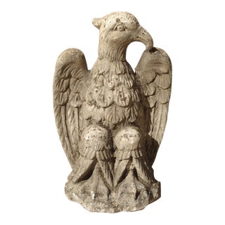 Carved Northern Italian Limestone Eagle Statue, 20th Century For Sale
