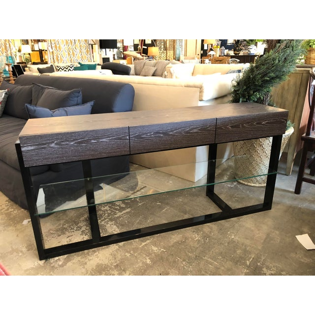 """64"""" multi-functional contemporary console table for displaying flat screen TV's, laptops, tablets, art work, plants etc...."""