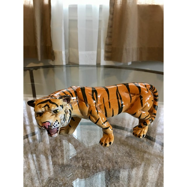 1970's Italian Terracotta Tiger - Image 2 of 8