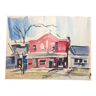 Ruth Laser Watercolor 1940s For Sale