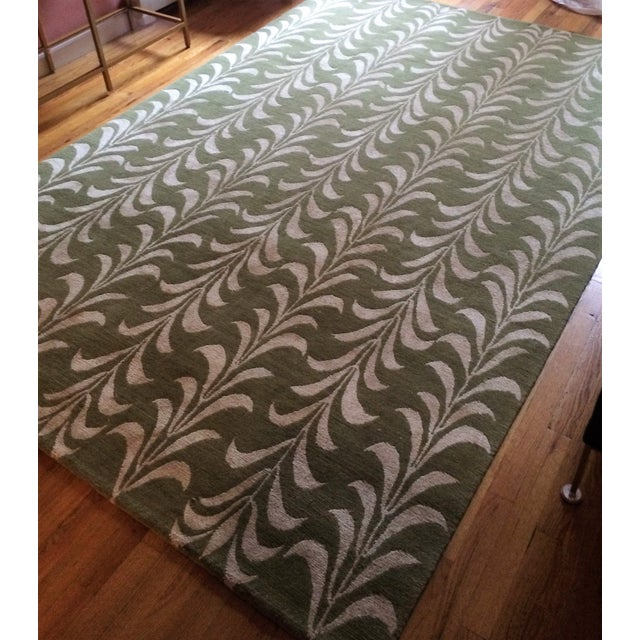 The Rug Company Hand-Knotted Wool Silk Rug - 9'x6' - Image 4 of 10