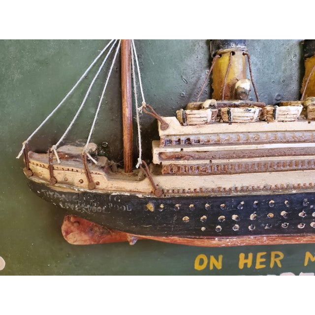 """Original Early 20th Century Mixed Media Art """"Remember the Titanic"""" For Sale - Image 4 of 13"""