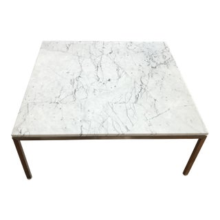 Modern Square Venatino Marble Coffee Table For Sale