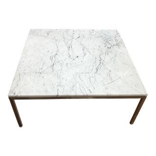 Modern Square Venatino Marble Coffee Table