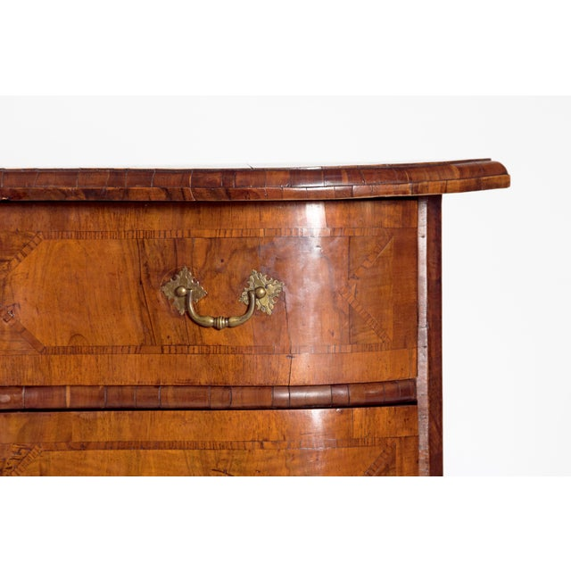 Mid-18th Century Baroque Walnut Three Drawer Chest For Sale - Image 4 of 13