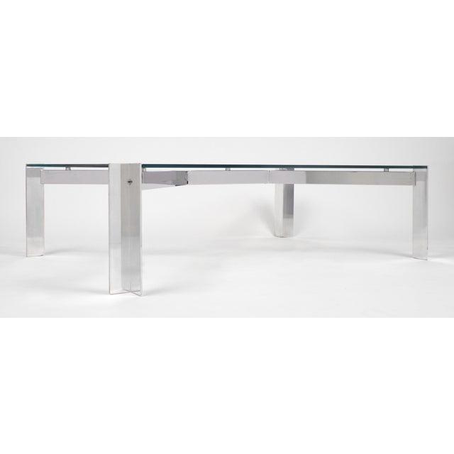 Vintage Georges Frydman Chromed Steel Coffee Table - Image 6 of 11