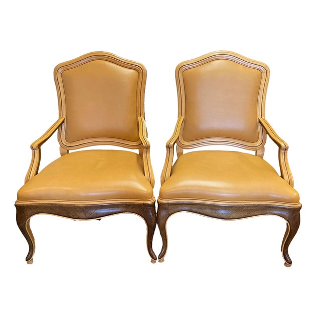 William Switzer Genovese Louis XV Venetian Occasional Chairs - a Pair For Sale