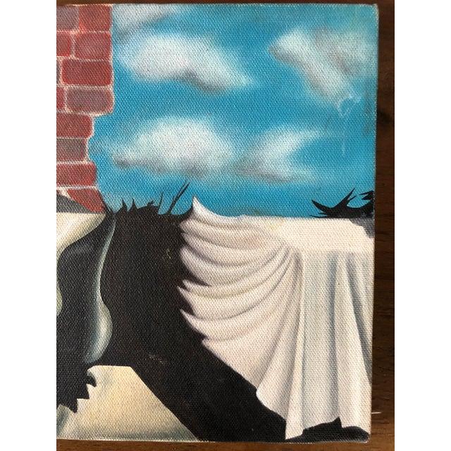 Surrealism Vintage Surrealist Painting For Sale - Image 3 of 6