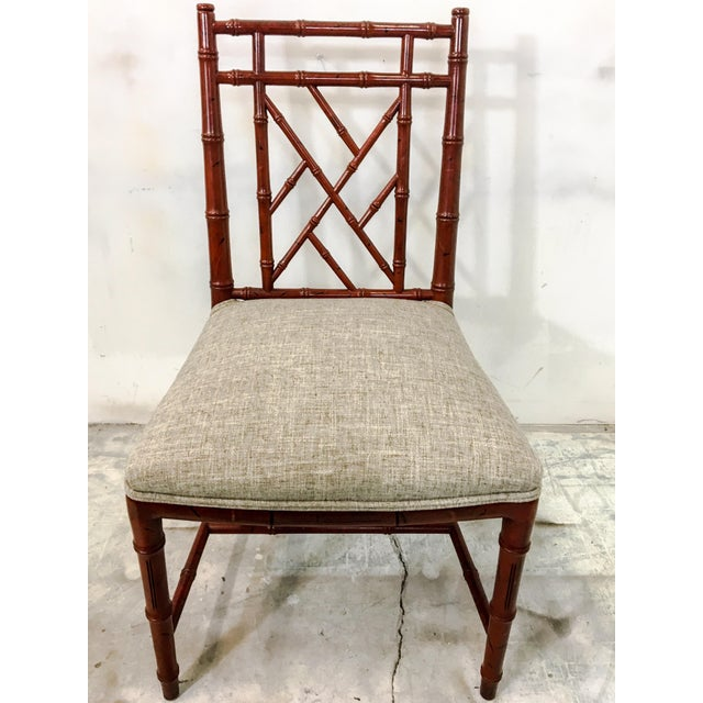 Century Faux Bamboo Chairs - Set of 10 For Sale In Atlanta - Image 6 of 7