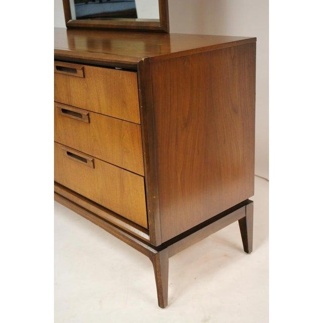 Mid Century Walnut 6 Drawer Dresser For Sale - Image 4 of 7