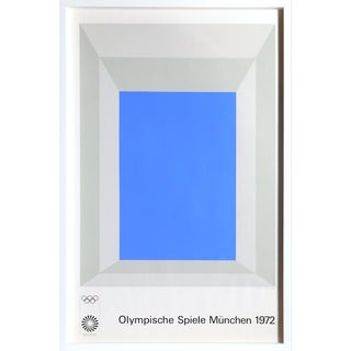 Josef Albers - Olympische Spielen Muenchen Framed Poster For Sale