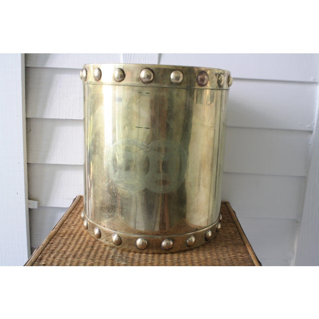 Brass Vintage Mid-Century Chinoiserie Style Brass Planter For Sale - Image 7 of 13