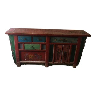 ABC Carpet & Home Asian Hand Painted Console For Sale