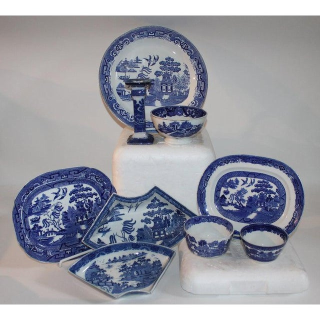19th-20th Century Blue Willow Collection, 9 Pcs For Sale In Los Angeles - Image 6 of 10