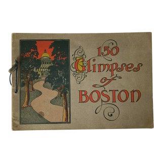 1904 Antique Book 150 Glimpses of Boston For Sale
