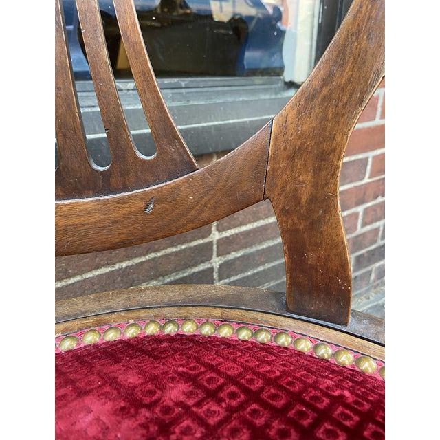 Late 18th Century Late 18th Century French Directoire Swivel Desk Chair For Sale - Image 5 of 8