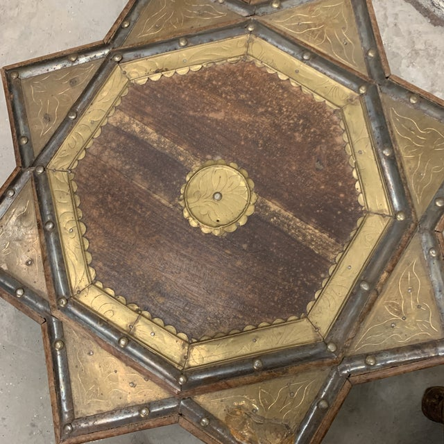 Vintage Moroccan Star Stacking Tables For Sale - Image 10 of 12