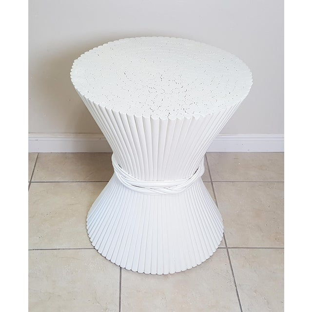 Hollywood Regency Hollywood Regency McGuire Sheaf of Wheat Dining Table Base For Sale - Image 3 of 9