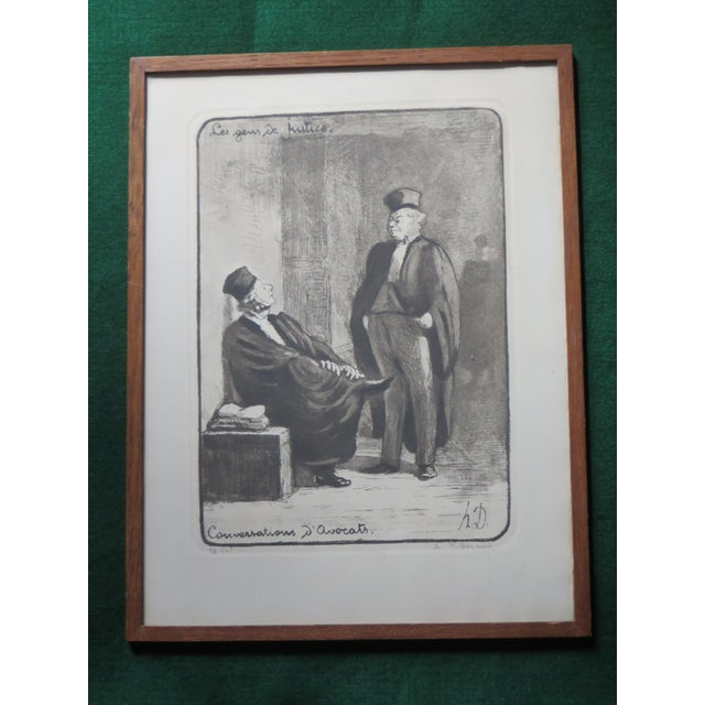 Honore Daumier Caricatures Framed & Matted Prints - A Pair For Sale In Philadelphia - Image 6 of 10