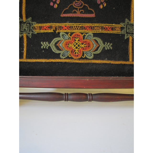 Victorian 1910s Victorian Embroidered Fire Screen For Sale - Image 3 of 7