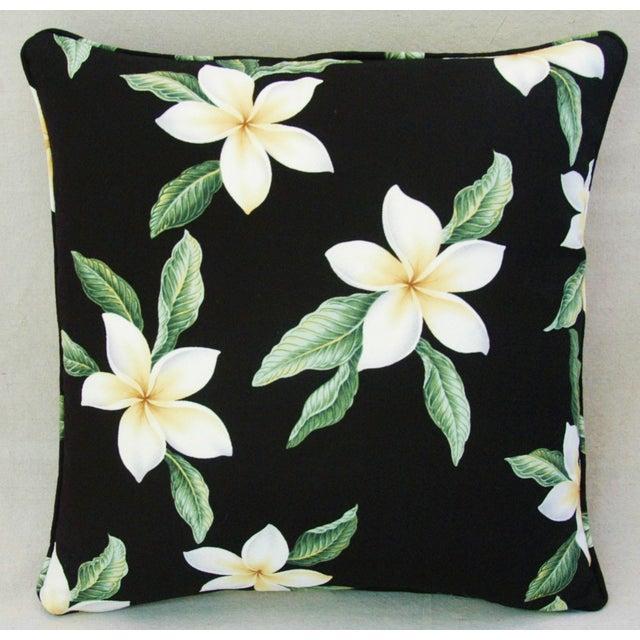 Custom Tropical Blossom Barkcloth Pillows - A Pair - Image 9 of 10