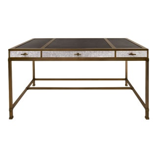 Steven Gambrel Collection Gambrel Desk in Eggshell / Burnished Brass For Sale