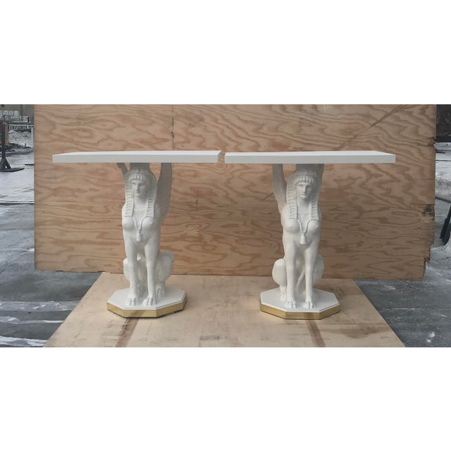 Egyptian Bastet Console Tables - a Pair For Sale - Image 13 of 13