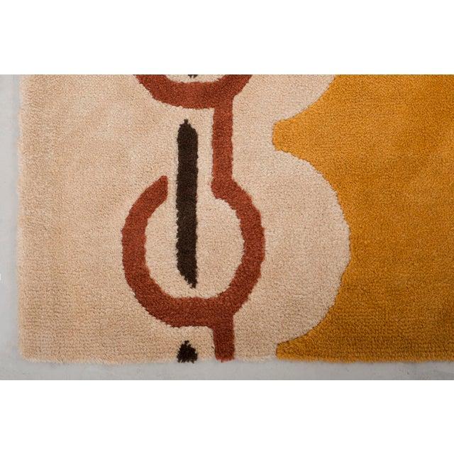 Modernist Wool Rug by Pierre Cardin in Golden Yellow, Denmark 1960s For Sale In Santa Fe - Image 6 of 11