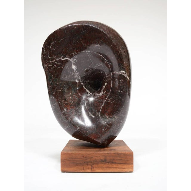 Marble Abstract Marble Sculpture in the Manner of Barbara Hepworth For Sale - Image 7 of 11