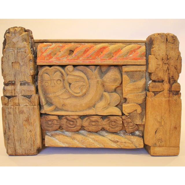 Folk Art Recycled Wood Magazine Rack - Image 2 of 5