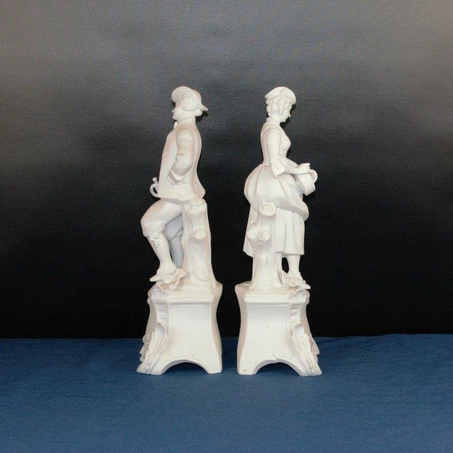 1920s Man and Woman Bisque Figures - a Pair For Sale In Denver - Image 6 of 8