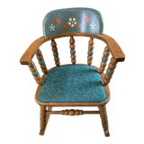 Image of Vintage Styled by Phoenix Usa 1920's Children's Wooden Rocking Chair For Sale
