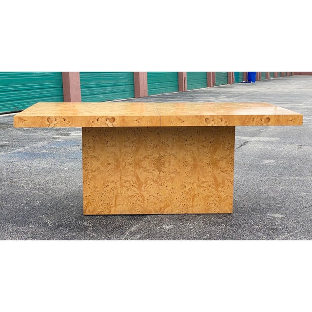 MidCentury Dillingham Burl Wood Dining Table For Sale - Image 10 of 12
