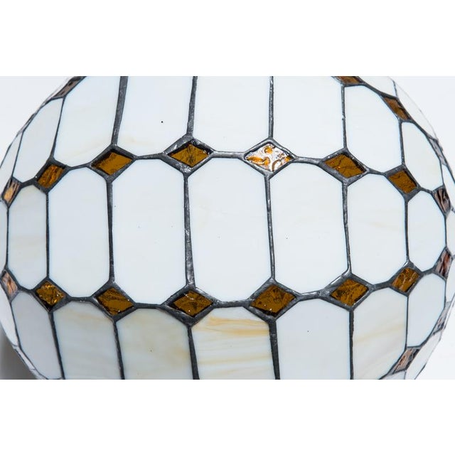 Leaded Stained Glass Globes - a Pair - Image 7 of 7