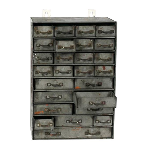 French Metal Drawers Circa 1900 For Sale - Image 4 of 4