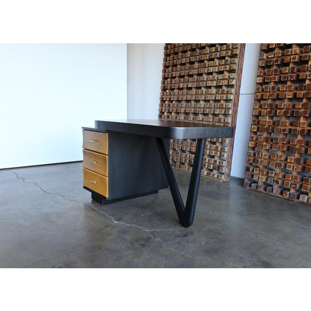 Mid 20th Century Rare Desk by Paul Frankl for Johnson Furniture, Circa 1950 For Sale - Image 5 of 8