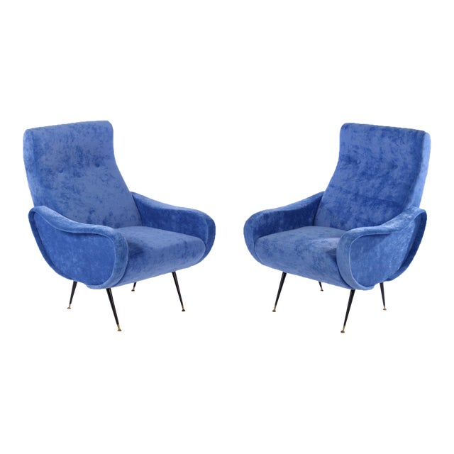 Marco Zanuso Style Lady Chairs - A Pair - Image 1 of 6