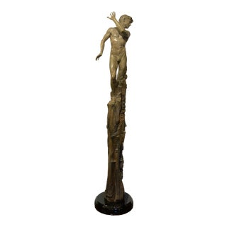 """The Dance of Yes and No"" Duet Series Male Bronze Sculpture by Martin Eichinger For Sale"