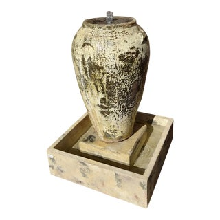Handmade Cask Urn Fountain For Sale