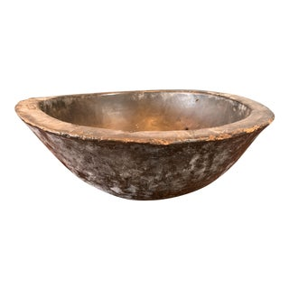 African Carved Wooden Bowl For Sale