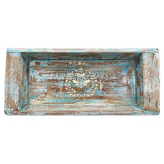 Antique Rustic French Tray W/ Gilded Bee For Sale
